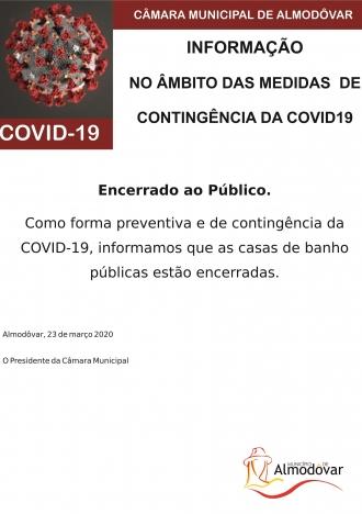 Encerramento Casas de Banho Públicas (Covid-19)