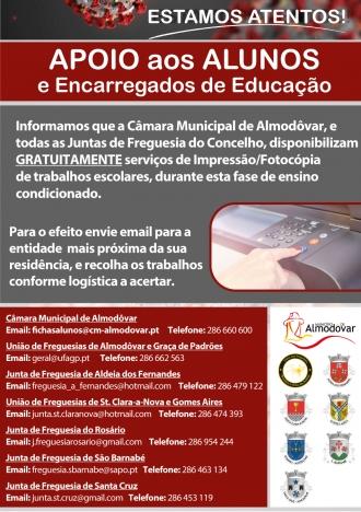 Apoio a alunos e encarregados de educação (Covid-19)
