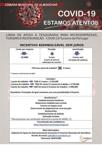 Turismo de Portugal – Linha de Apoio à Tesouraria para Microempresas, Turismo e Restauração (Covid-19)