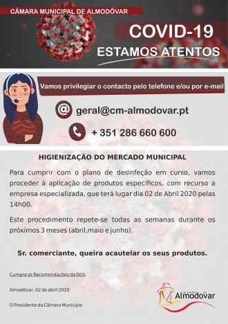 Desinfeção Semanal do Mercado Municipal (Covid-19)