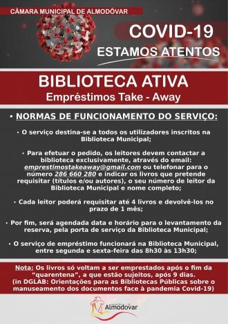 Empréstimos Take-Away Biblioteca Ativa (Covid-19)