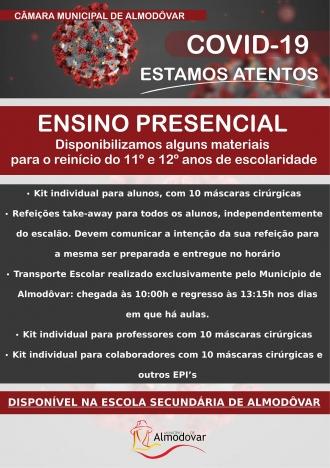 Reinício Ensino Presencial EB23/S Dr. João de Brito Camacho (Covid-19)