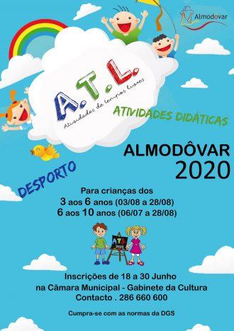 Inscrições abertas para Atividades de Tempos Livres 2020