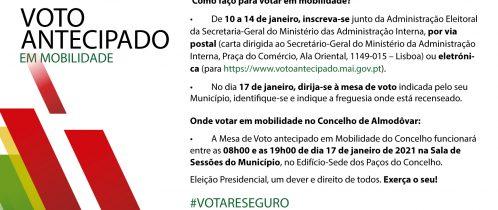 Presidenciais 2021: Voto Antecipado em Mobilidade