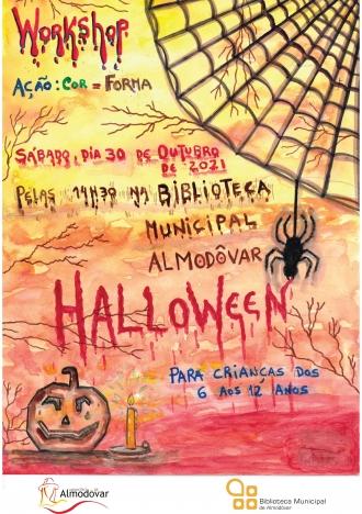 Workshop Ação: Cor – Forma. Especial Halloween